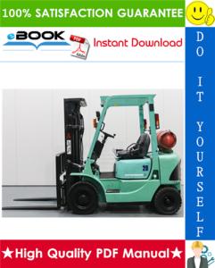 mitsubishi fg20k mc, fg25k mc, fg30k mc, fg35k mc forklift trucks service repair manual