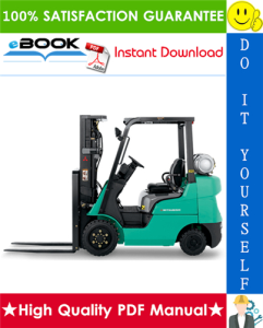 Mitsubishi FGC15, FGC18, FGC20, FGC20HP, FGC25HP, FGC30 Forklift Trucks (Engine) Service Repair Manual | eBooks | Technical