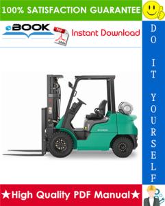 mitsubishi fg20, fg25, fg30, fg35a forklift trucks service repair manual