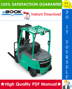 mitsubishi fb10krt, fb12krt, fb15krt forklift trucks chassis, mast and options service repair manual
