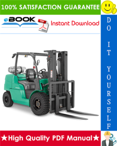 mitsubishi fd40n, fd45n, fd50cn, fd50n, fd55n forklift trucks service repair manual