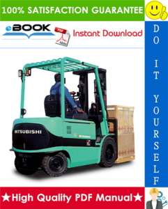 mitsubishi fb20k pac, fb25k pac forklift trucks service repair manual