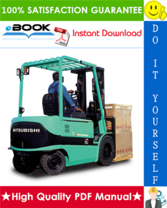 mitsubishi fb30k pac, fb35k pac forklift trucks service repair manual