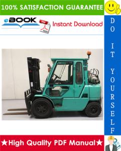 mitsubishi fg40k, fg40kl, fg45k, fg50k forklift trucks service repair manual
