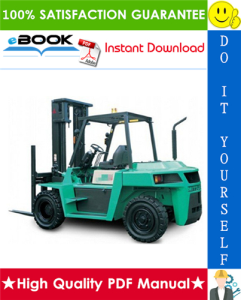mitsubishi fd80n, fd90n forklift trucks service repair manual