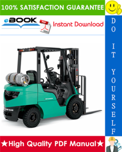 mitsubishi fg10n, fg15zn, fg18zn forklift trucks service repair manual