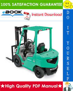 mitsubishi fd10n, fd15n, fd18n, fd20cn forklift trucks service repair manual