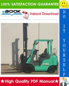 mitsubishi fge15n, fge18n, fge20cn, fge15zn, fge18zn forklift trucks service repair manual