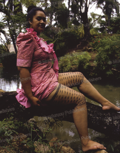 Samoan girl with thigh tattoos, Gilles Frenken, 1982 | Photos and Images | Travel