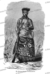 Samoan warrior, Gustav Mu¨tzel, 1886 | Photos and Images | Travel