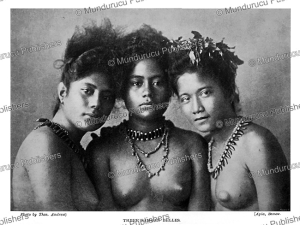 Three Samoan beauties, T. Andrew, 1900 | Photos and Images | Travel
