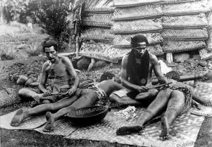 tattooing in samoa, 1910