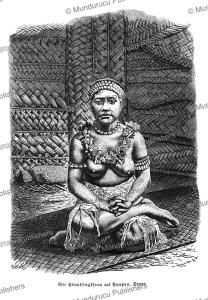chief's wife of puapua, samoa, gustav mu¨tzel, 1886