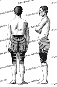 Samoan trouser tattoo for men, back view, Fresenius, 1896 | Photos and Images | Travel
