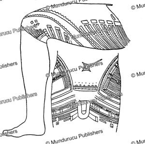 traditional tattoo design for men, samoa, fresenius, 1896