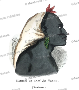 Chief of Vanou, Vanikoro, Adolphe Franc¸ois Pannemaker, 1844 | Photos and Images | Travel