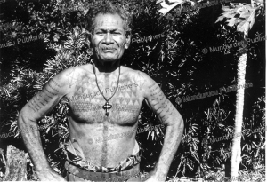 man of tikopia with tattoos, mike pendergrast, 1975
