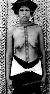 tattooed woman of sikaiana or stewart island, solomon islands