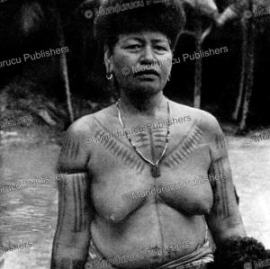 old woman with tattoos of rennell island, solomon islands, kaj birket-smith, 1956