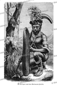 Warrior of the Solomon Islands, Friedrich Ratzel, 1894 | Photos and Images | Travel