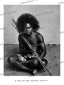 Man of the Solomon Islands, Mansell & Co, 1900 | Photos and Images | Travel