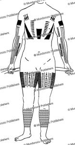 tattoo pattern for men, rennell island, solomon islands, c.m. woodford, 1907