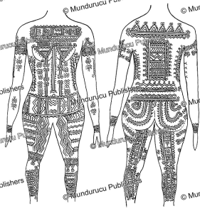 tattoo pattern for women of santa anna, solomon islands, henry kuper, 1926