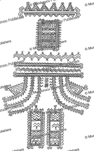 tattoo back pattern for women of santa anna, solomon islands, henry kuper, 1926