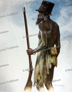 a cannibal chief, aoba, new hebrides, norman hardy, 1907