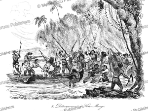 James Cook disembarks at Koro Mango, Vanuatu, Jules Boilly, 1835 | Photos and Images | Travel
