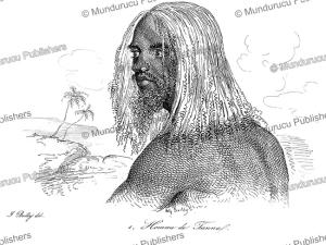 man from tanna, vanuatu, jules boilly, 1839