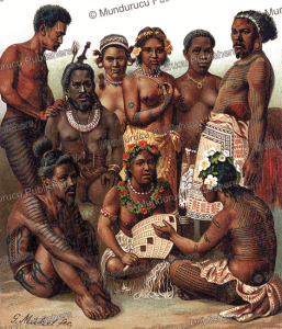 natives of melanesia, gustav mu¨tzel, 1886