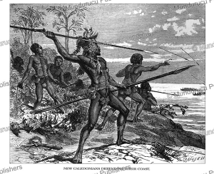 New Caledonians defending their coast, Johann Baptist Zwecker, 1870 | Photos and Images | Travel