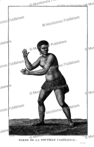 woman from nouvelle caledonia, nicolas piron, 1817