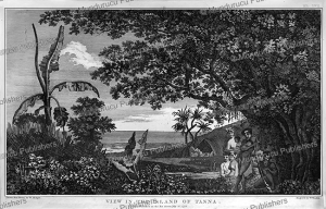 view in the island of tanna, william hodges, 1776