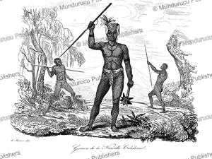 warriors from new caledonia, louis auguste de sainson, 1834