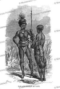 Man and woman of New Hebrides, Vanuatu, George French Angas, 1870 | Photos and Images | Travel