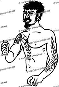 tattoo pattern indicating status on aoba, new hebrides, felix speiser, 1923