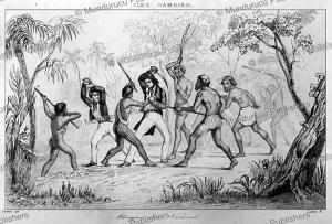gambierwarriorsfightingthefrench,victormariefelixdanvin,1828