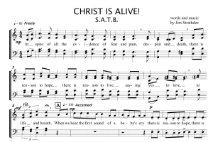 christ is alive ~ choral anthem s.a.t.b.