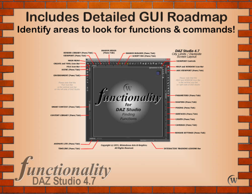Fourth Additional product image for - FUNCTIONALITY The Ultimate Reference Guide to Finding Functions and Commands In Daz Studio 4