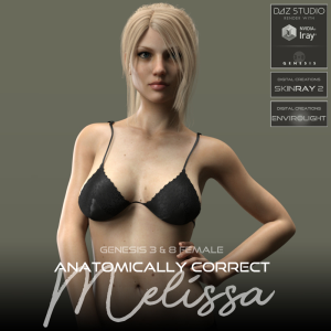 anatomically correct: melissa for genesis 3 and genesis 8 female