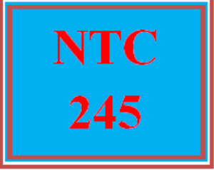 NTC 245 Week 5 Individual: Disaster Recovery and Cloud Computing | eBooks | Education