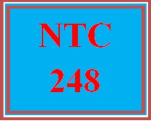NTC 248 Week 1 Individual: Week One Lab Submission | eBooks | Education