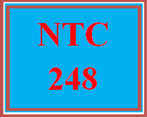NTC 248 Entire Course | eBooks | Education