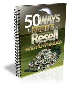 50 ways to profit from PLR | eBooks | Business and Money