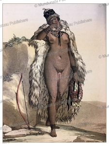 hottentot woman with the so called apron, gallo gallina, 1816