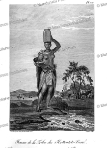 woman of the hottentots-koral tribe, tardieu l'ai^ne´, 1807