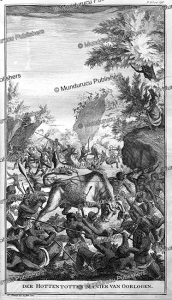 warfare between tribes of the hottentots, a. zeeman, 1727