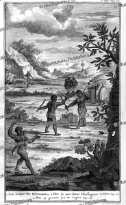 Hottentots practising their hunting skills, M. Pool, 1727 | Photos and Images | Travel